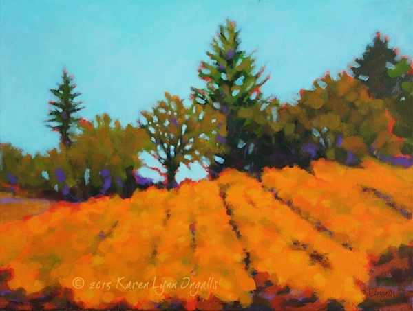Napa Valley vineyard painting