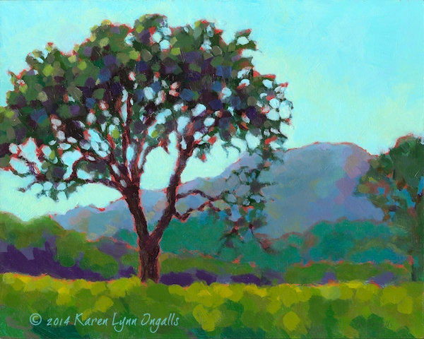Napa Valley vineyards painting, Mt. St. Helena painting